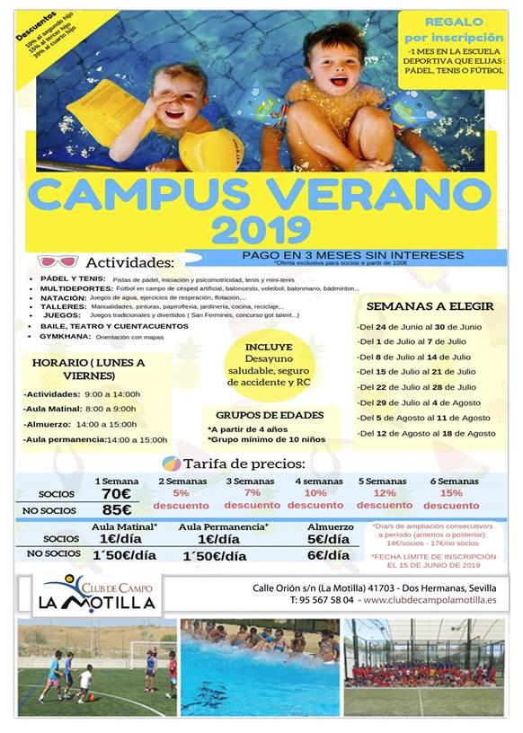 Campus de verano 2019 en Dos Hermanas