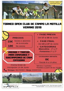 Torneo open Club